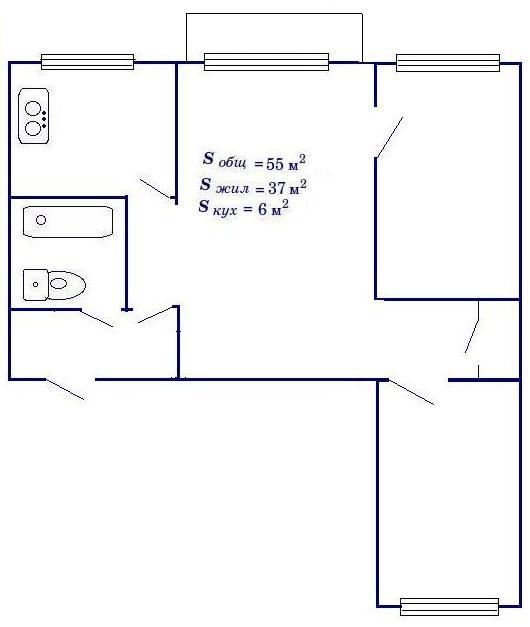 Хрущёвка 3 комнатная