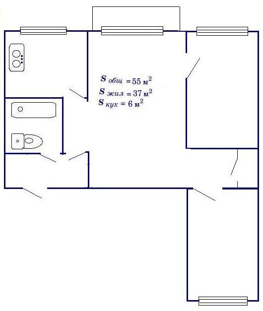 3-х комнатной хрущевки